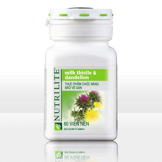 Thực phẩm chức năng Bảo vệ gan Nutrilite Milk Thistle Dandelion Amway