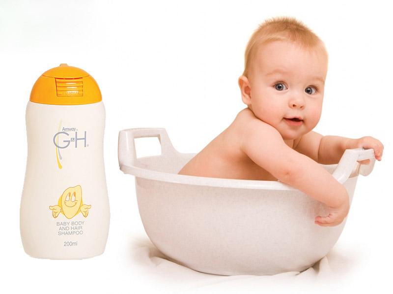 dầu gội sữa tắm em bé gh