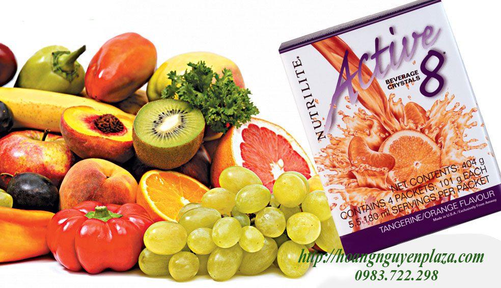 Bột bổ sung vitamin Nutrilite Active 8 vị cam Amway