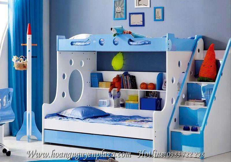 Giường 3 tầng xanh dương H639 giuong-3-tang-H639_compressed