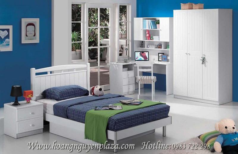 Phòng ngủ màu trắng cho bé N922 N601 bo-phong-ngu-mau-trang-922_compressed