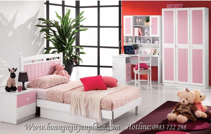 Bộ phòng ngủ màu hồng dễ thương N921 N610 bo-phong-ngu-mau-hong-de-thuong-921_compressed