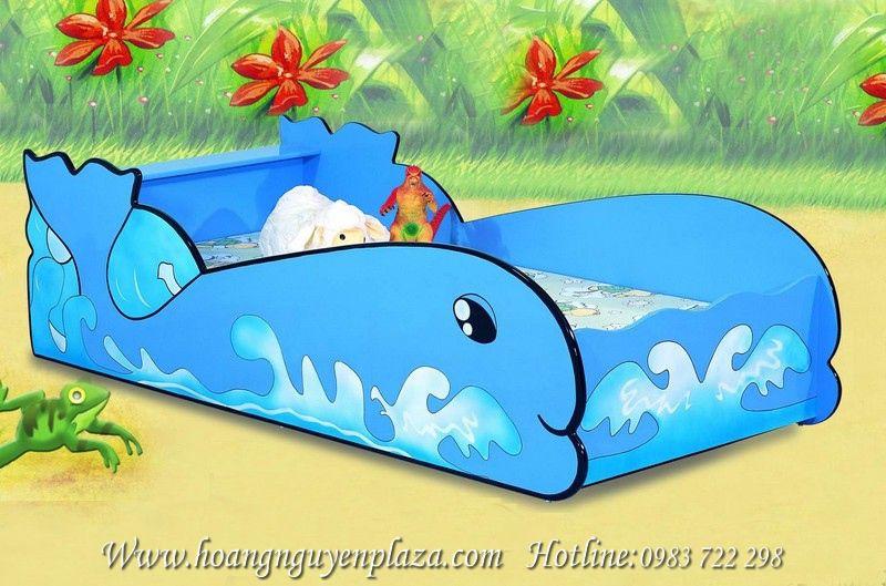 Giường ngủ màu xanh hình cá cho bé N617 Little-Whale6701B_compressed