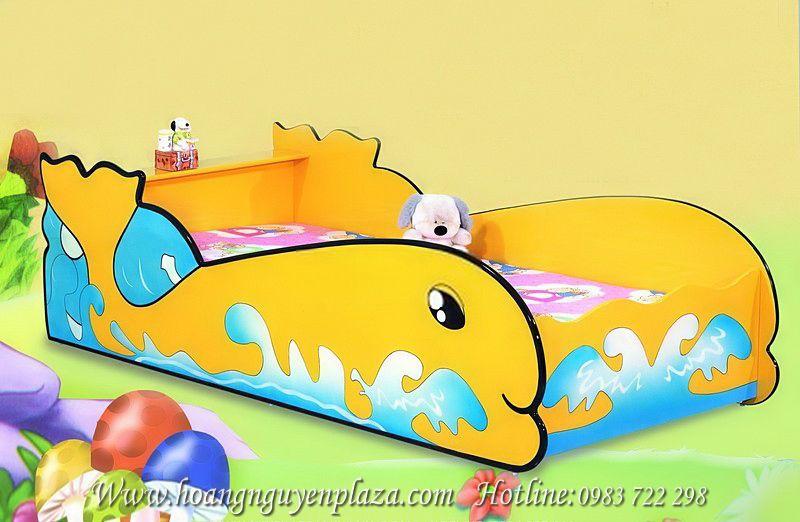 Giường ngủ màu vàng hình cá cho bé N619 Little-Whale-6701Y_compressed