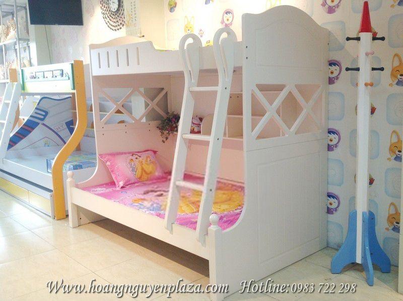Giường tầng trắng tinh khôi cho bé