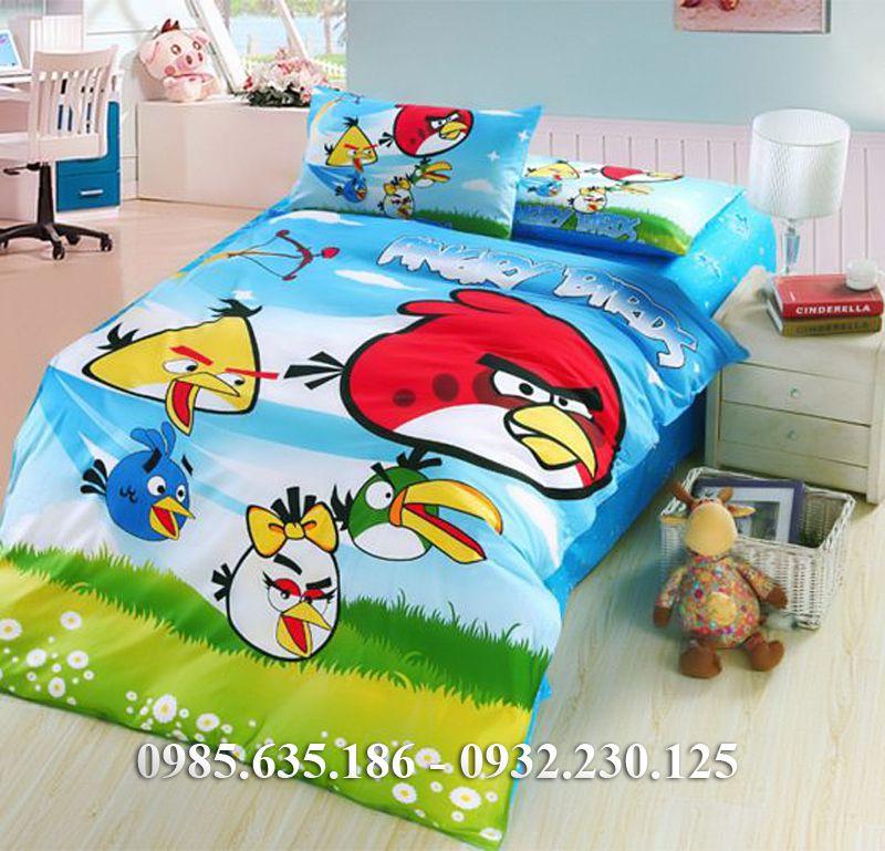 Bộ chăn ga gối Angry Birds