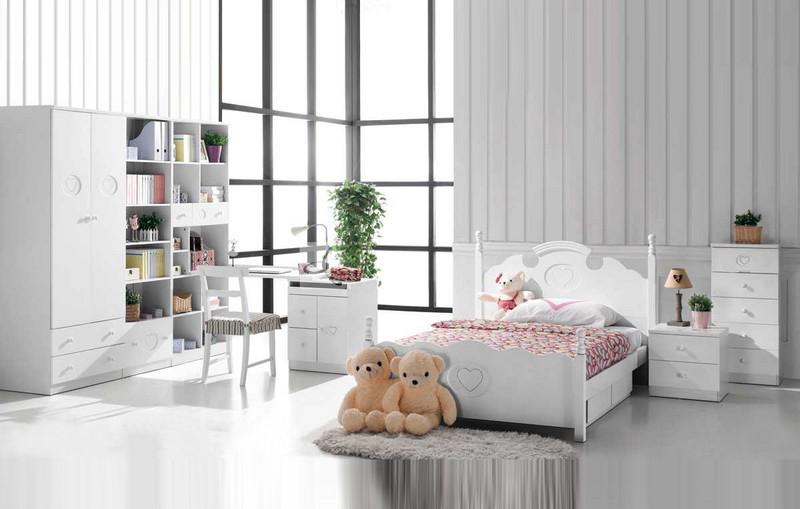Phòng ngủ trái tim cho bé
