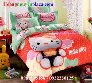 Bộ chăn ga gối Hello Kitty HN155