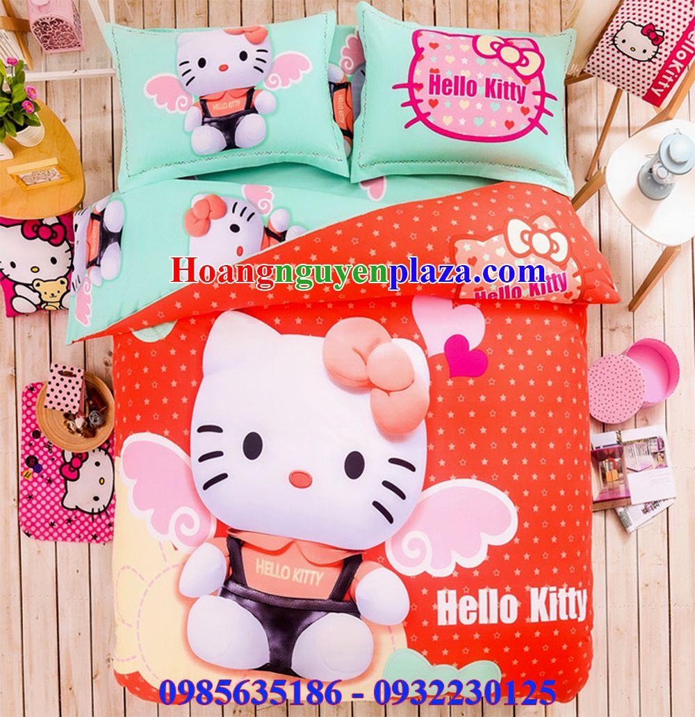Bộ chăn ga gối Hello Kitty HN155 mới