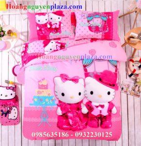 Bộ Chăn Ga Gối Hình Hello Kitty HN181