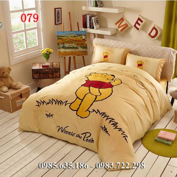 Chăn ga gối hoạt hình gấu Pooh