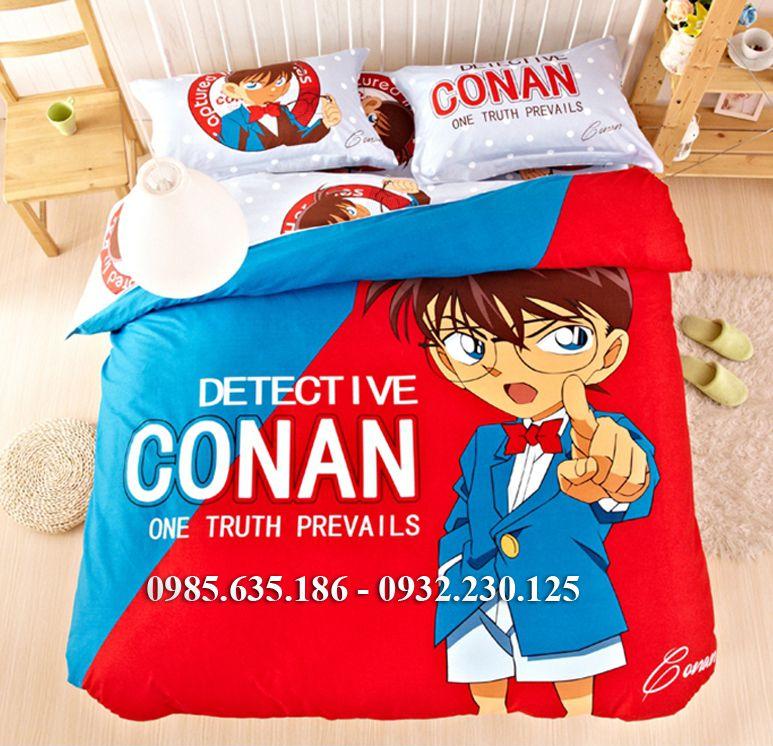 Chăn ga gối hình thám tử Conan