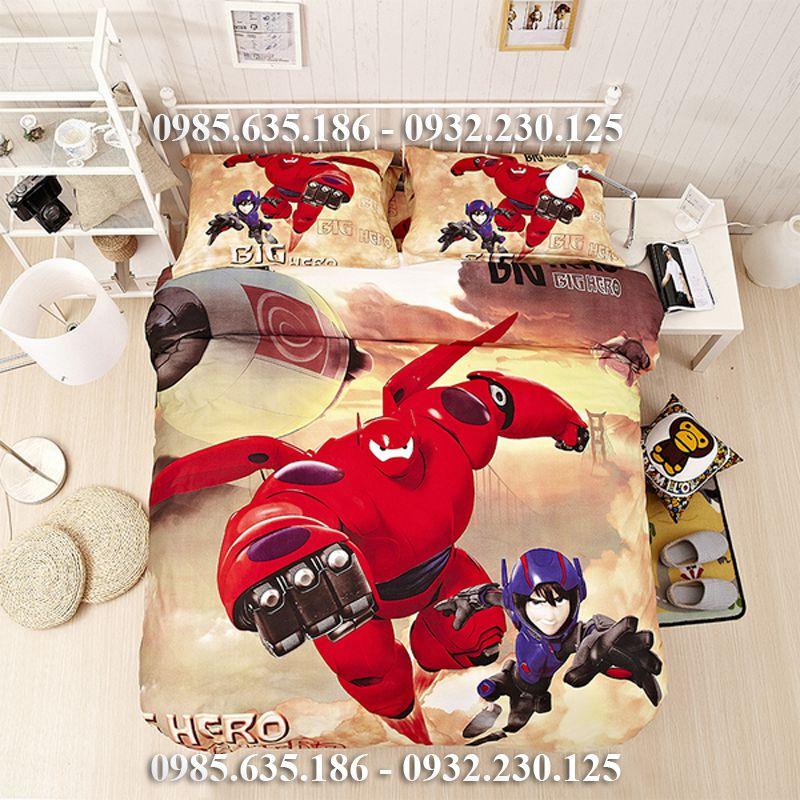 Chăn ga gối hoạt hình biệt đội Big Hero 6
