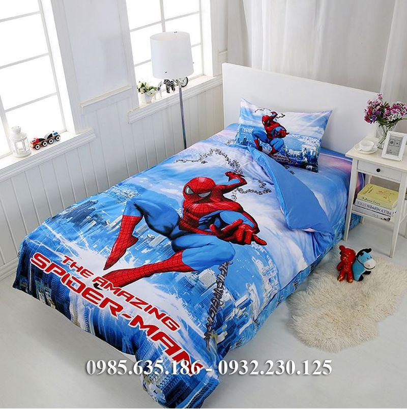 Chăn ga gối người nhện siêu nhân mới