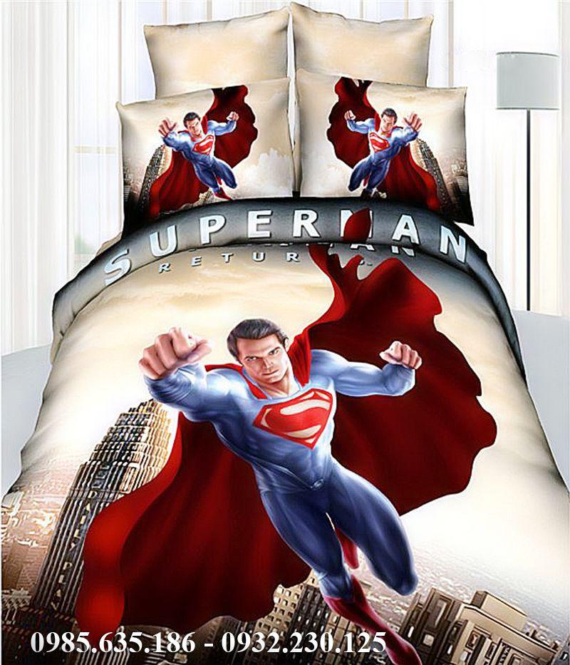 Bộ chăn ga gối siêu nhân Superman