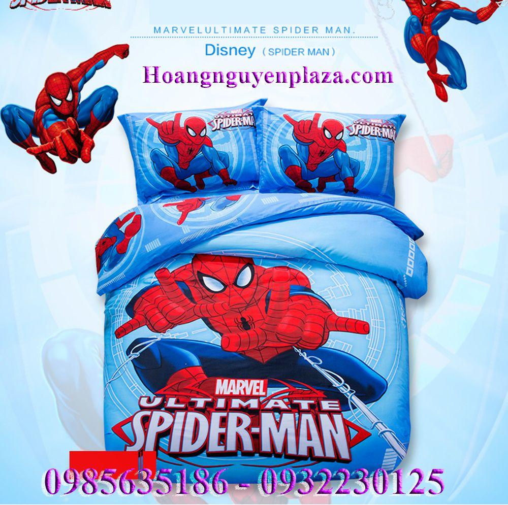 chăn ga gối người nhện cho bé trai spider man (1)