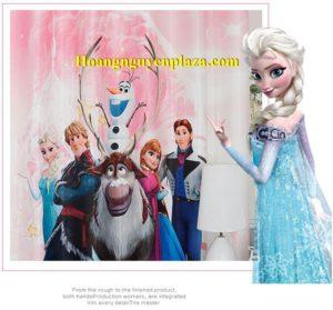 Rèm cửa hình nữ hoàng băng giá Elsa 3
