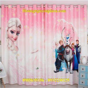 Rèm cửa hình nữ hoàng băng giá Elsa