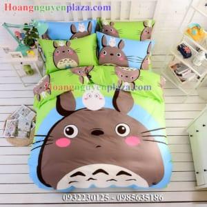 Chăn ga gối hình Totoro cho bé gái
