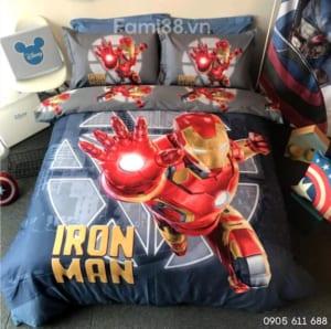 Bộ drap-ga giường siêu nhân Iron Man