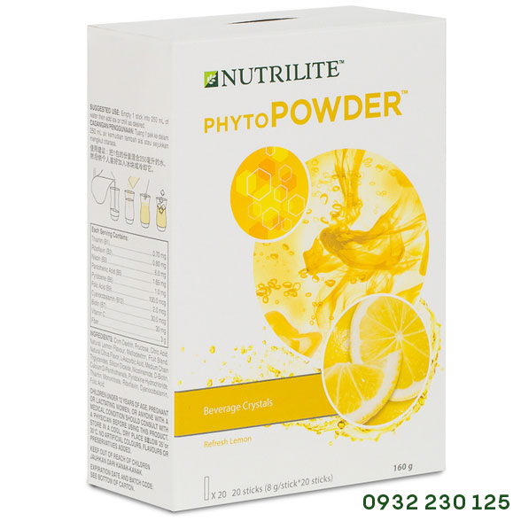 Bột Uống Tăng Cường Sức Đề Kháng Vị Chanh Nutrilite Phytopowder