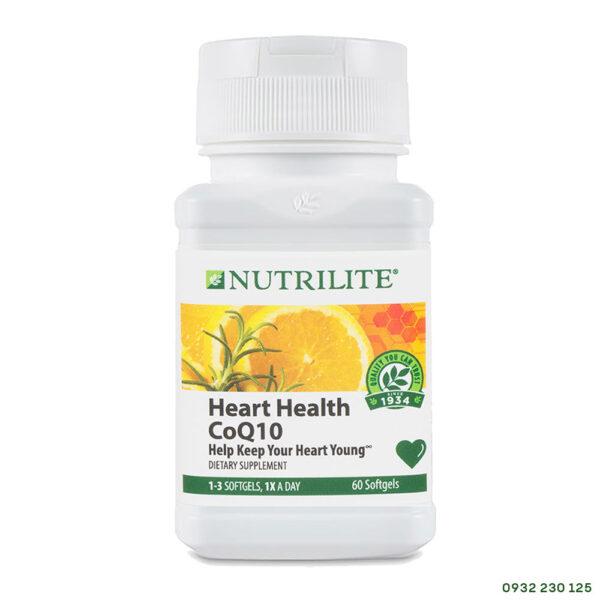Viên bổ tim mạch Nutrilite Heart Health CoQ10 Amway của Mỹ