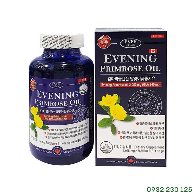 Viên tinh dầu Hoa Anh Thảo Evening Primrose Oil Hàn Quốc 300 viên